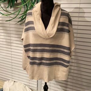American Eagle poncho style hooded sweater
